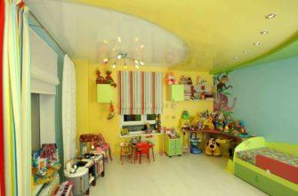 желтый дизайн детской