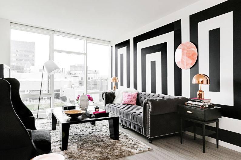 яркие оттенки можно применить в других элементах декора, подушки, стулья